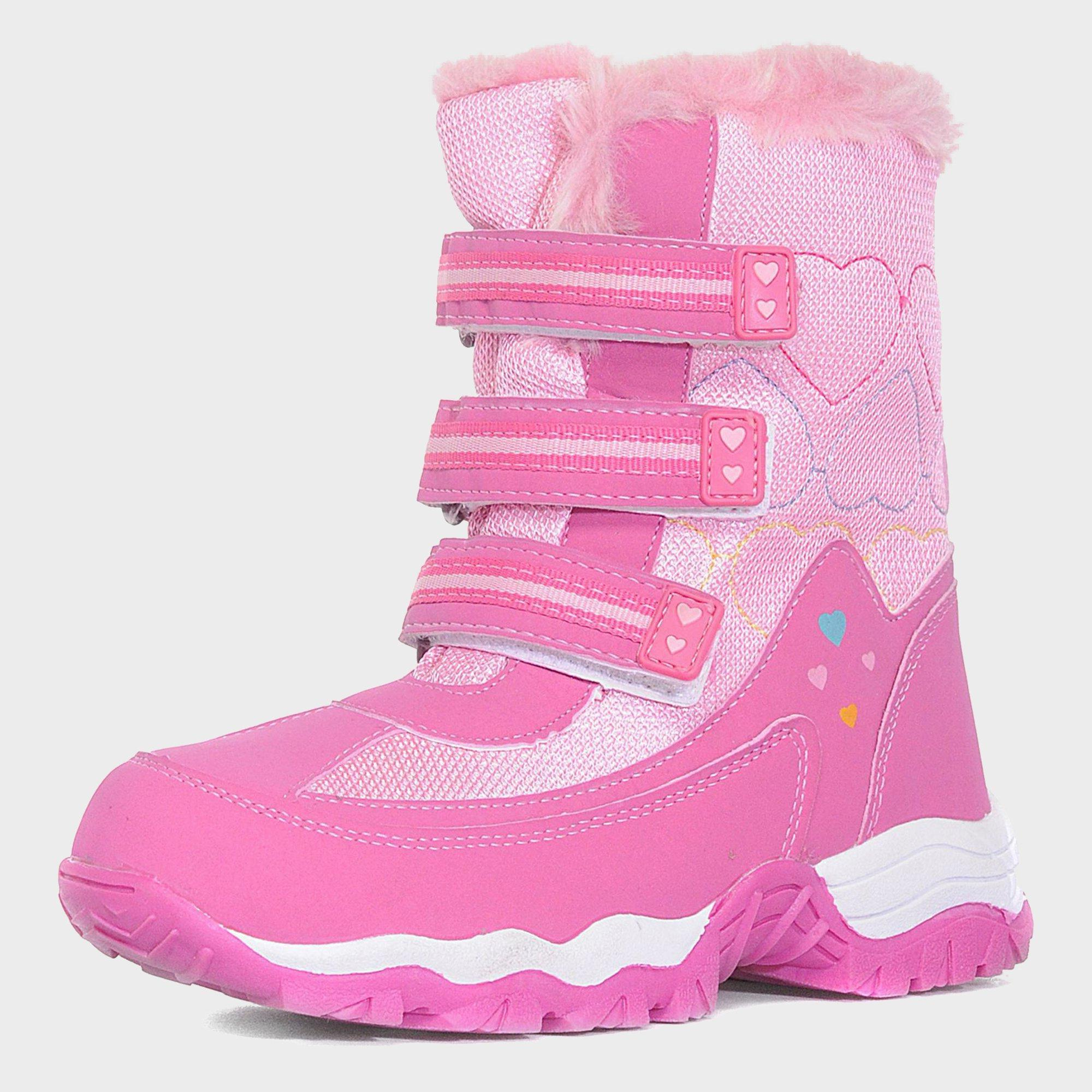 Alpine Girls Fur Snow Boots Pink
